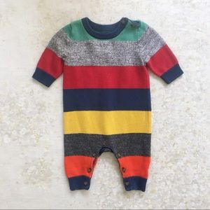 baby Gap Sweater Knit One Piece Striped 0-3 Mos